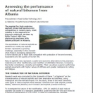 Publication of the article « Selenizza - Natural bitumen of Albania: high performing additive
