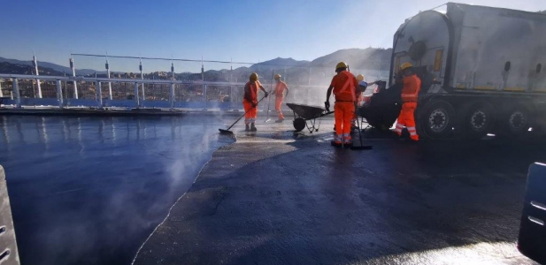 Top News GENOVA BRIDGE starting works Mastic Asphalt  with CISA ASFALTI  and SELENIZZA Natural bitum