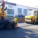Repair of road, in the area of Chernigiv, Ukraine - sept. 2014