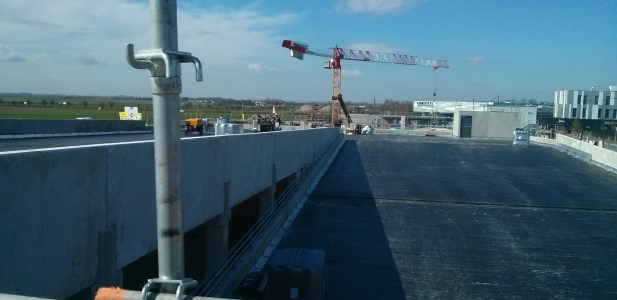 Parking with access ramp area North France