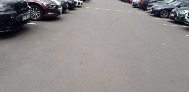 Parking area in OZAS shopping mall - Vilnius