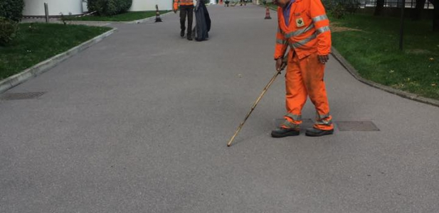 Construction works with gussasphalt in Milano - Italy